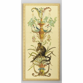 380251 Chelsea House Water Color On Silk Gold Frame Borghese Panel-Lt
