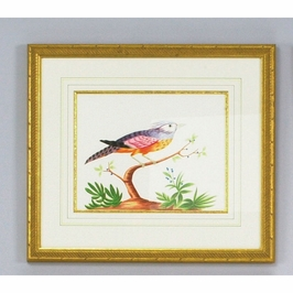 380287 Chelsea House Blue Crest-Water Color On Paper Gold Frame And Fillet