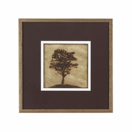 380438 Chelsea House Gilded Tree - I-Lithograph Print Distressed Antique Gold Frame