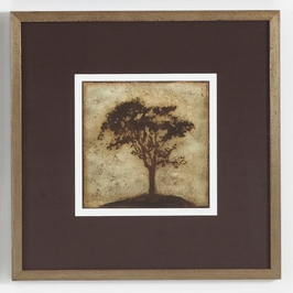 380441 Chelsea House Gilded Tree - IV-Lithograph Print Distressed Antique Gold Frame