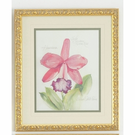 380474 Chelsea House Elissas Garden - Vii-Lithograph Print Gold Frame With V-Groove Mat