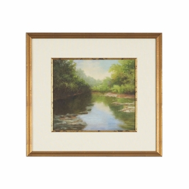 380495 Chelsea House Lithograph Print Antique Gold Frame With Fillet O'Bannon Summer Creek