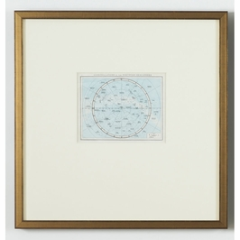 380510 Chelsea House Constellations N Hemi-Lithograph Print Antique Gold And Black Frame