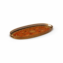 380565 Chelsea House Oval Serving Tray W/Prc