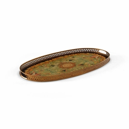380566 Chelsea House Oval Serving Tray-Green