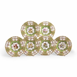380668 Chelsea House New Hall Plates-S/6-Hand Painted Porcelain