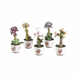 380679 Chelsea House Chelsea Flowers-S/5-Hand Painted Porcelain