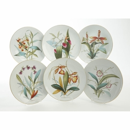 380738 Chelsea House 42-0454 Leval Porcelain Plate - Set of 6