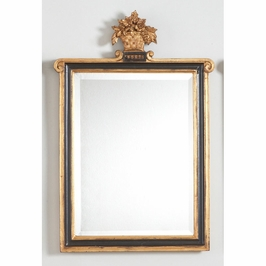 380953 Chelsea House Kingstree Mirror Gold/Bk-Beveled Mirror Black And Gold