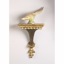 380998 Chelsea House Light Wood And Gold Finish Light Wood And Gold Finish Chiswick Bracket - Light Wood