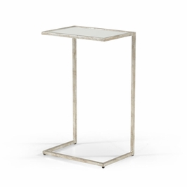 381589 Chelsea House Matteson Side Table Silver
