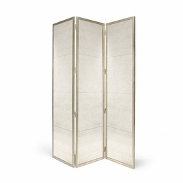 381692 Chelsea House Classic Gilt Screen-Silver-Iron With Antique Silver Finish Lisa Kahn Collection