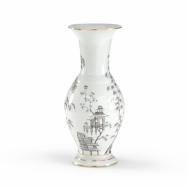 381726 Chelsea House Blk & White Chinoisserie Urn