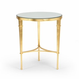 381864 Chelsea House Round Regent Table-Gold