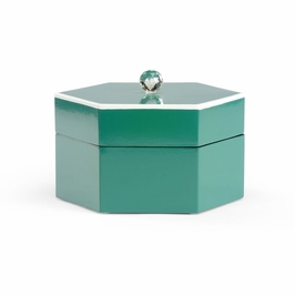 382151 Chelsea House Teal Covered Box