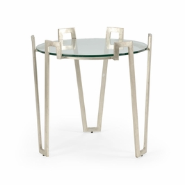382180 Chelsea House Cofer Side Table-Ant Silver