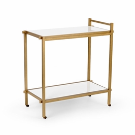 382289 Chelsea House Bar Cart - White