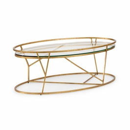 382301 Chelsea House Mason Cocktail Table - Gold