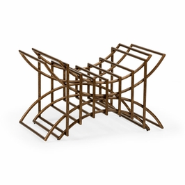 382445 Chelsea House Sculptured Bench-Iron