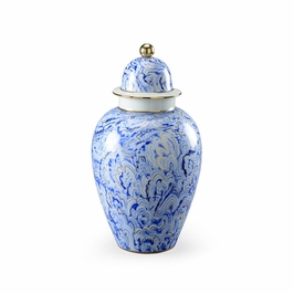 382539 Chelsea House Marbelized Covered Urn (Large)