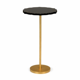 382549 Chelsea House Black Side Table