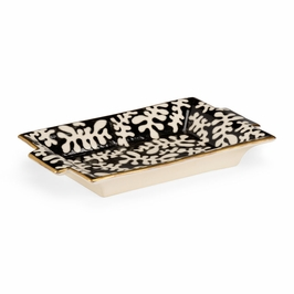 382697 Chelsea House Black Coral Tray