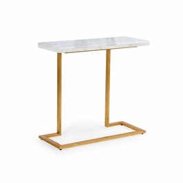 382786 Chelsea House New York Console - Gold-White Marble Top