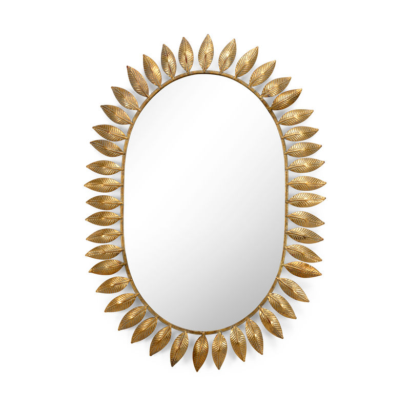 383479 Chelsea House Victoria Mirror Gold White Washed Gold Leaf