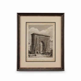 386148 Chelsea House Port St. Denis-Giclee Print Black And Silver Frame With Double Mat
