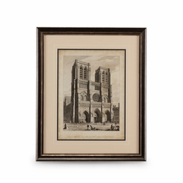 386149 Chelsea House West Front-Notre Dame-Giclee Print Black And Silver Frame With Double Mat