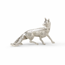 391013 Wildwood Cast Brass Antique Silver Plated Silver Fox