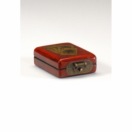 391910 Wildwood Lamps Playing Card Box - Leather On Wood Finish