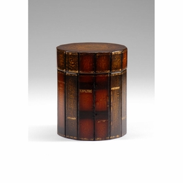 391919 Wildwood Lamps Leather Box - Leather On Wood Finish