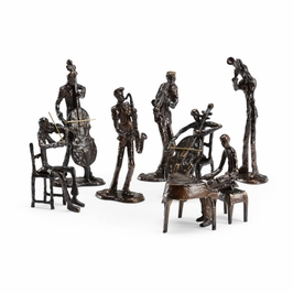 392348 Wildwood Cast Bronze Patinated Orchestra