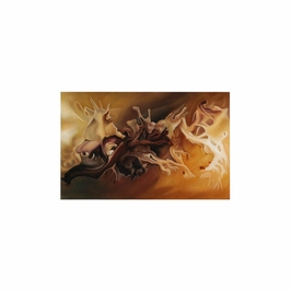 394933 Wildwood Lamps Contemporary Oil Painting - Artists Work On Stretched Canvas Finish