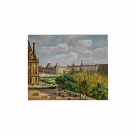 394946 Wildwood Lamps Ville De Paris - Artists Work On Stretched Canvas Finish