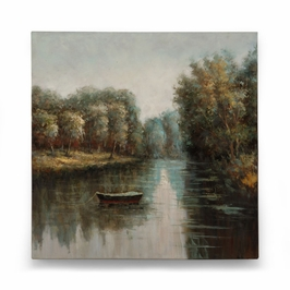 394974 Wildwood Oil On Canvas Oil On Canvas Quiet River