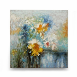 394978 Wildwood Lamps Oil Painting - Hand Painted Canvas