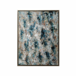 395058 Wildwood Lamps Blue Birch (Framed Oil) - Stretched Canvas Finish