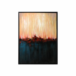395060 Wildwood Lamps Red Horizon (Framed Oil) - Stretched Canvas Finish