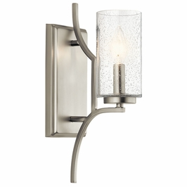44070NI Kichler Fixtures Arts and Crafts/Mission Brushed Nickel Wall Sconce 1Lt