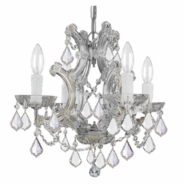 Crystorama Maria Theresa 4 Light Spectra Crystal Chrome Mini Chandelier II
