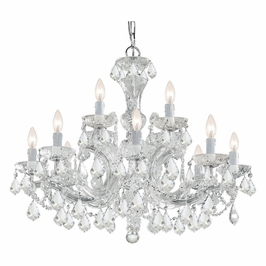 Crystorama Maria Theresa 12 Light Clear Swarovski Strass Crystal Chandelier