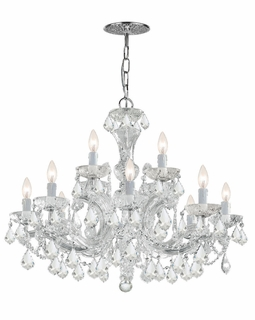 4479-CH-CL-SAQ Crystorama Maria Theresa 12 Light Clear Swarovski Spectra Crystal Chandelier