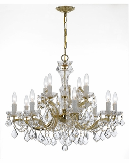 4479-GD-CL-SAQ Crystorama Maria Theresa 12 Light Clear Crystal Chandelier