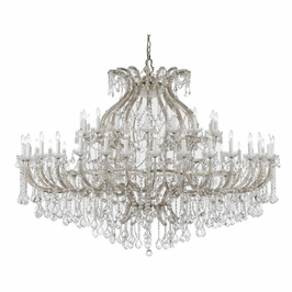 4480-CH-CL-SAQ Crystorama Maria Theresa Chandelier Draped In Swarovski Spectra Crystal