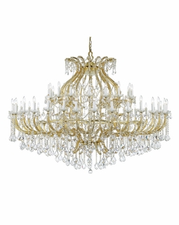 4480-GD-CL-S Crystorama Maria Theresa 49 Light Swarovski Strass Crystal Gold Chandelier