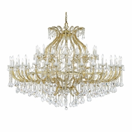 4480-GD-CL-SAQ Crystorama Maria Theresa 49 Light Swarovski Spectra Crystal Gold Chandelier