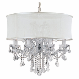 Crystorama Brentwood 12 Light Smooth Shade Chrome Chandelier - Swarovski Spectra