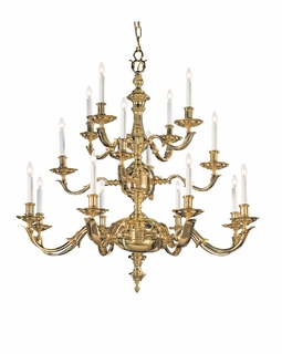 450-PB Crystorama Hot Deal Traditional Solid Brass Chandelier